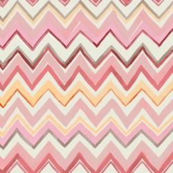 Zig Zag Multicoloured Pink Wallpaper