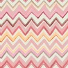 Zig Zag Multicoloured Pale Pink Wallpaper