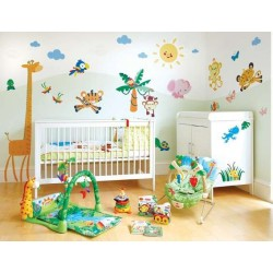 Fisher-Price Rainforest Animals Wallstickers