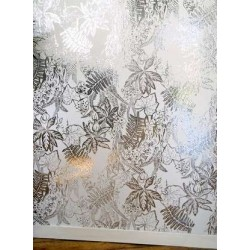 Hothouse White and Silver Wallpaper
