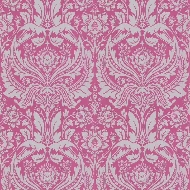 Desire pink and grey wallpaper pink grey damask wallpaper for Pink and grey wallpaper