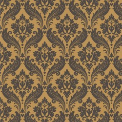 Vintage Flock Yellow Wallpaper