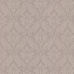 Vintage Flock Taupe Grey Wallpaper