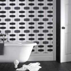 Groovy Black White Funky Wallpaper