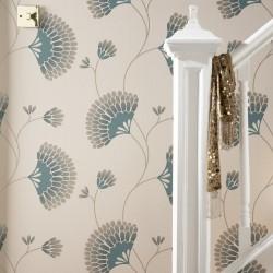 Charm Green & Cream Wallpaper