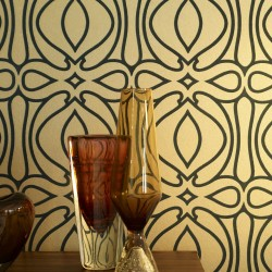 Baroque Flock Gold Trellis Art Deco