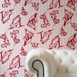 Shoes Pink Flock Wallpaper