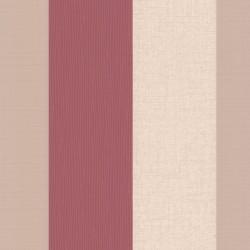 Java Red Stripe and Cream Wallpaper