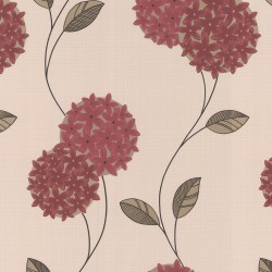 Pippa Red & Cream Wallpaper