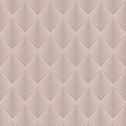 Soprano Grey Art Deco Wallpaper