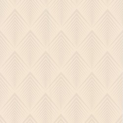 Soprano Cream Art Deco Wallpaper