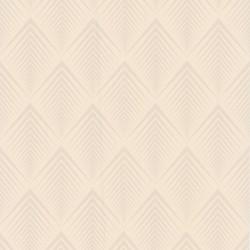 Soprano Cream Art Deco Wallpaper