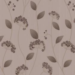 Claire Brown & Cream Wallpaper