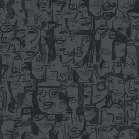 Caras Tres Wallpaper - Caras Tres Wallpaper, Dark Grey Wallpaper, Buy Wallpaper Online