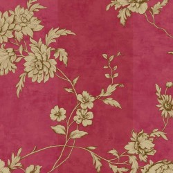 Chantilly Raspberry Red Wallpaper
