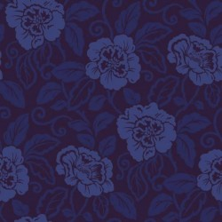 Belle Royal Blue Flock Wallpaper