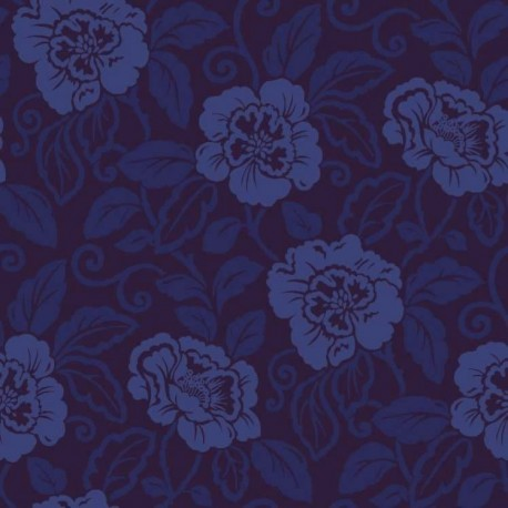 Belle royal blue flock 980508 for Navy blue wallpaper for walls