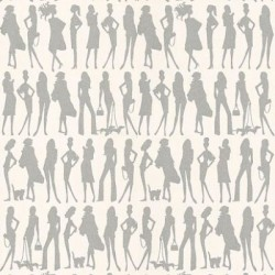 Bond Girls Silver Grey Retro