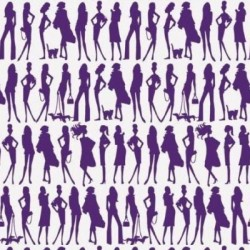 Bond Girls Violet Purple Retro