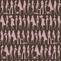 Bond Girls Chocolate Retro Wallpaper
