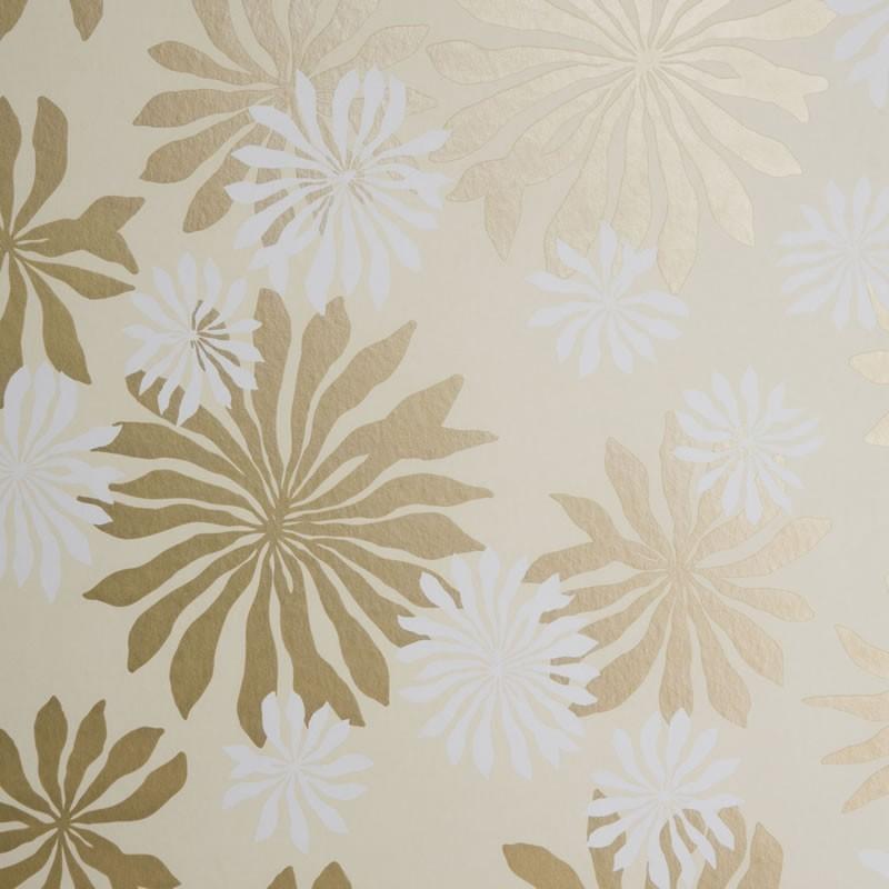 Missprint Misp1017 Fleur Cream Gold Wallpaper Missprint