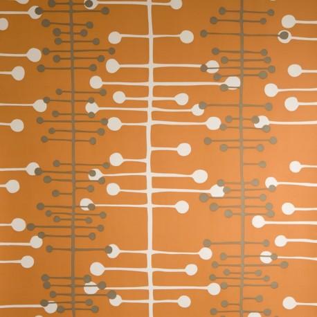 Orange Vintage Wallpaper