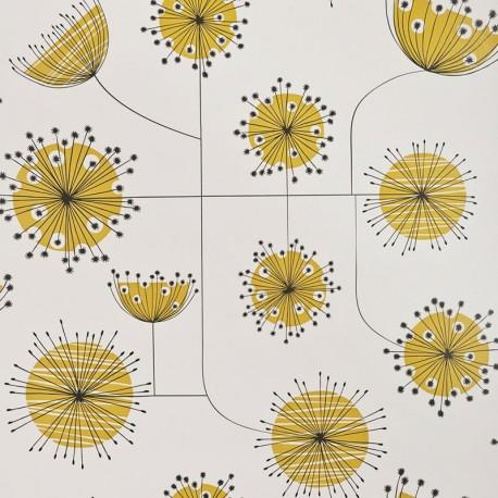 Missprint Misp12354 Dandelion Yellow Wallpaper