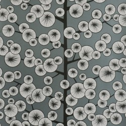 Cotton Tree Grey Wallpaper