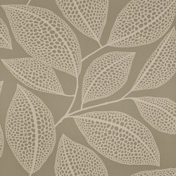 Pebble Leaf Cream Wallpaper