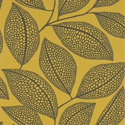 Pebble Leaf Yellow Wallpaper