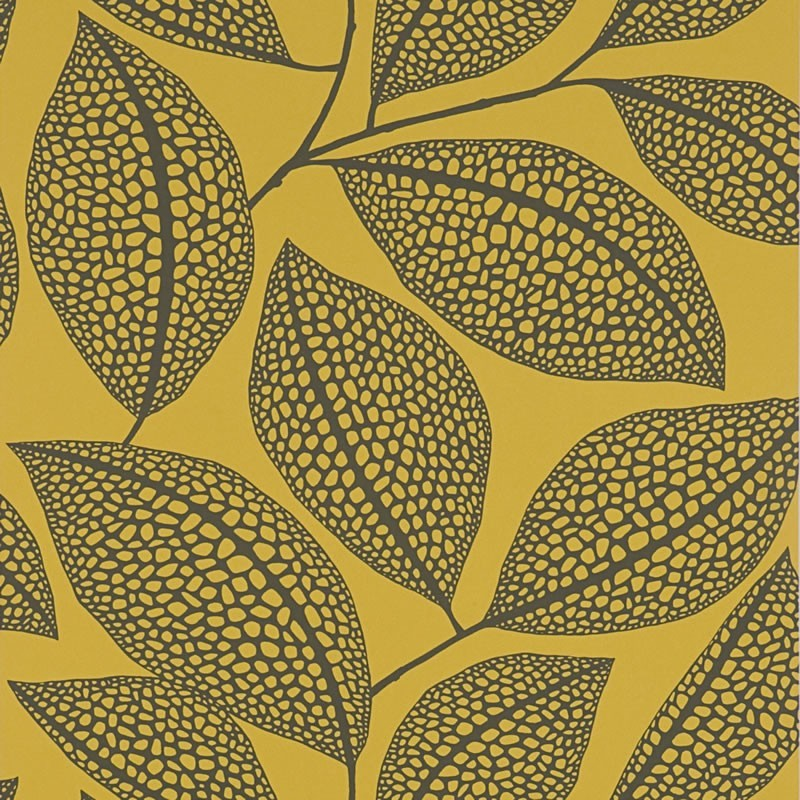 pebble leaf yellow wallpaper missprint pebble leaf yellow