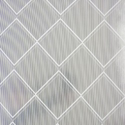 Argyle White and Silver Grey Trellis