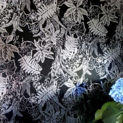 Hothouse Black and Silver Wallpaper