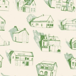 Houses Green Wallpaper
