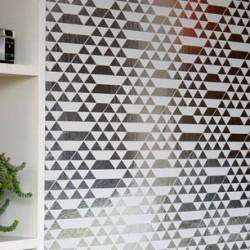 Teepee Silver & White Wallpaper