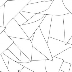 Windmill Black on White Wallpaper