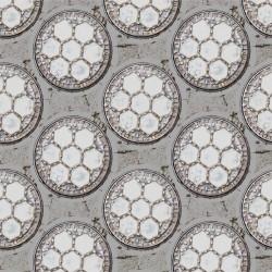 Drain Light Grey Wallpaper