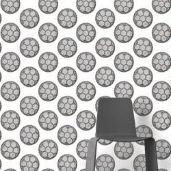 Drain Grey on White Wallpaper