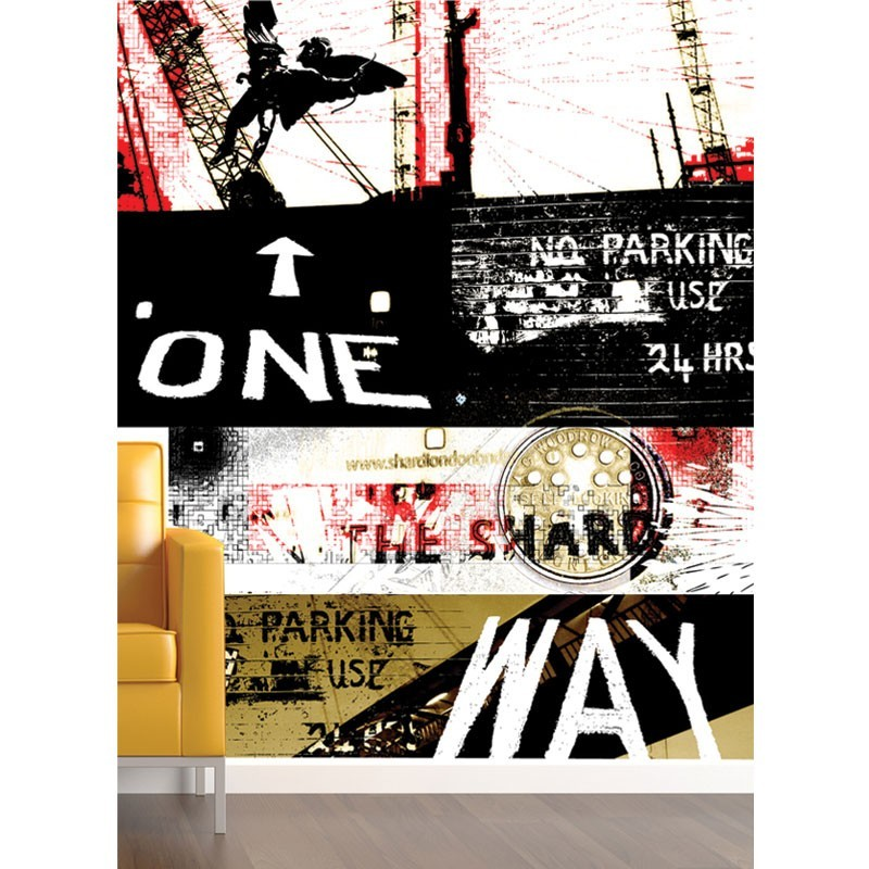 One way wall mural large digital wall mural wall murals for Digital wall mural