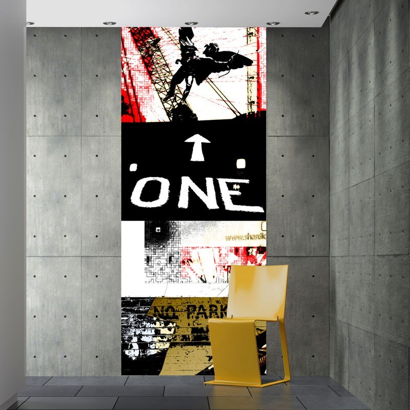 One way wall mural digital wall mural wall murals online for Digital wall mural