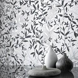 Bijou Grey and Black on White