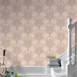 Glamour Taupe Wallpaper
