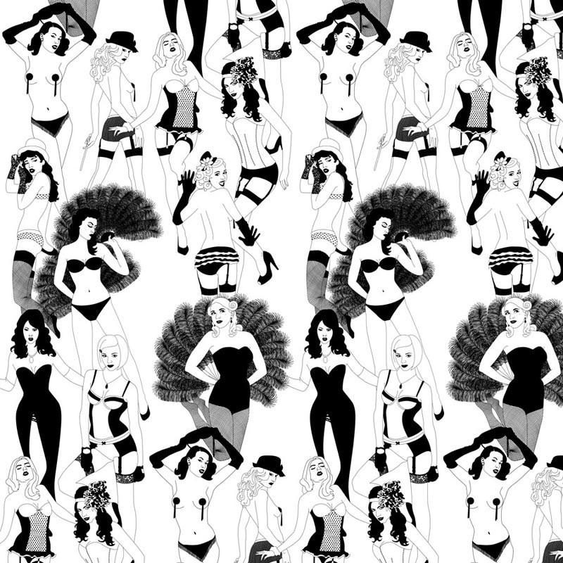 Burlesque Half Scale Wallpaper Dupenny Wallpaper Buy