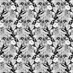 English Garden Mono Wallpaper