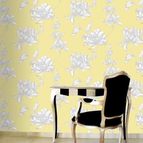 Vanessa Auerolin Yellow Wallpaper