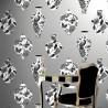 Bedford Square Palladium Silver Wallpaper