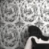 Arcadia Atrous Black & White Wallpaper