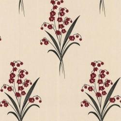 Valley Red & Cream Wallpaper