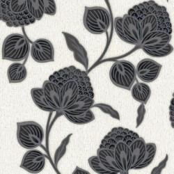 Nadira Black & White Wallpaper