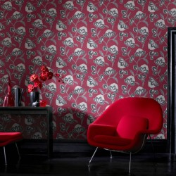 Nadira Red & Black Wallpaper